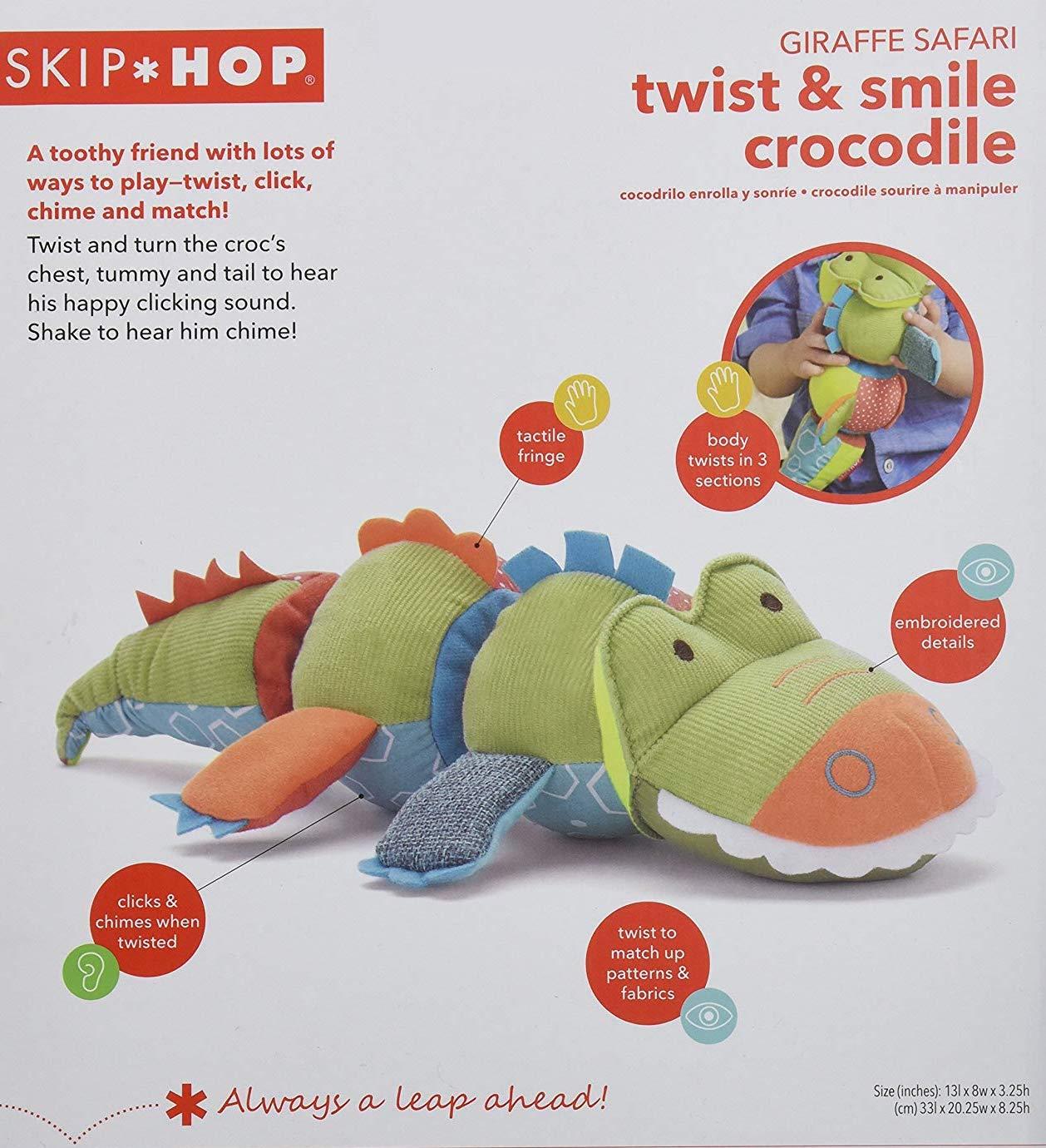 skip hop twist and smile soft toys crocodile 宝宝软布偶