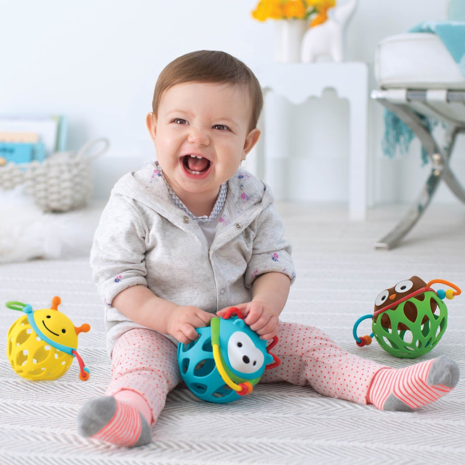 skip hop explore and more baby teething rattle