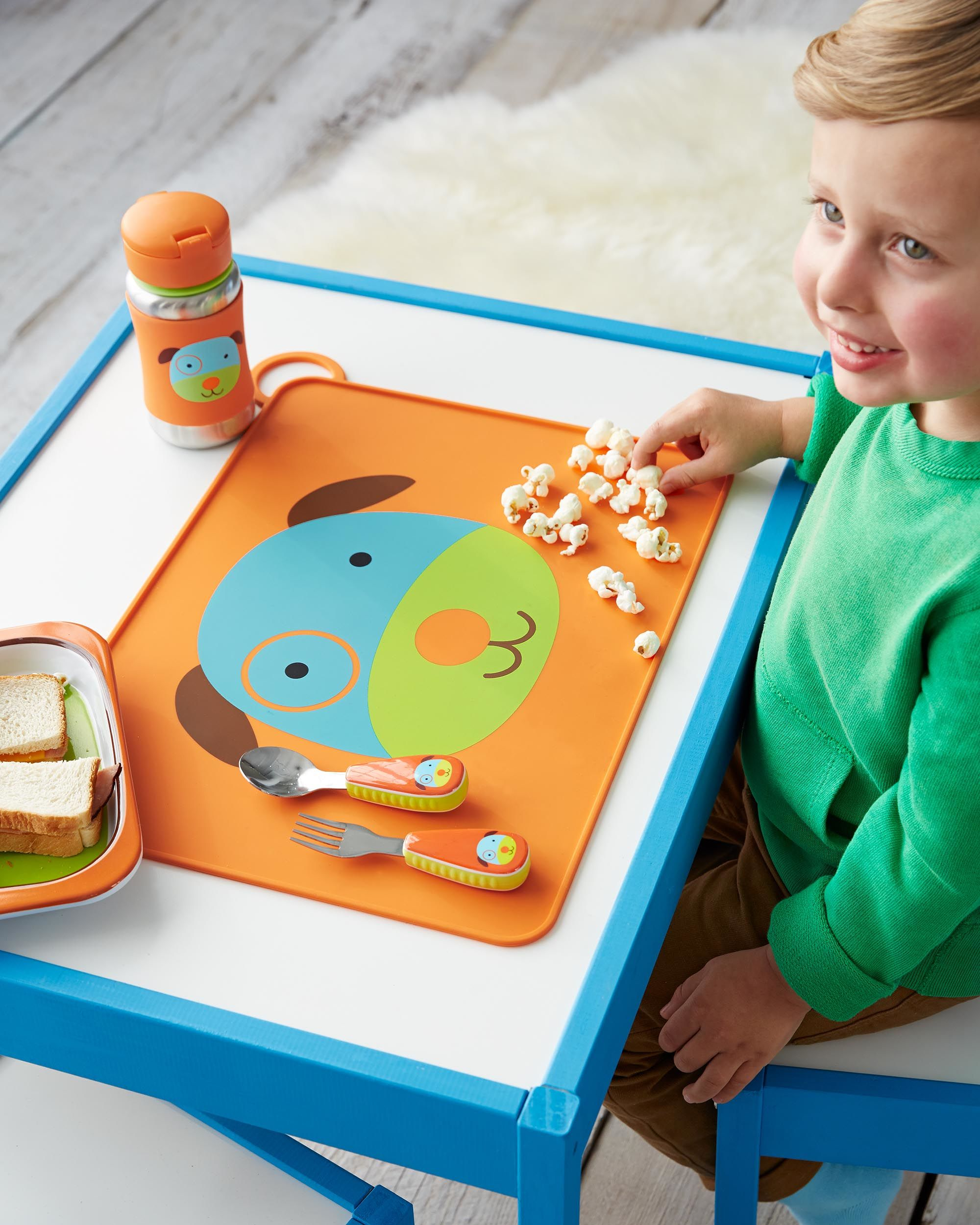 kids stainless steel feeding spoon and fork 儿童不锈钢吃饭餐具汤匙叉
