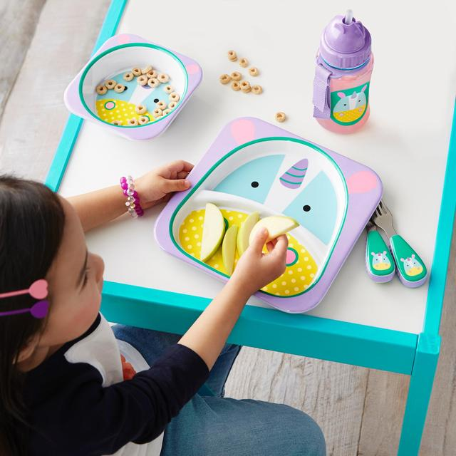 skip hop zoo melamine kids bowl and plate set